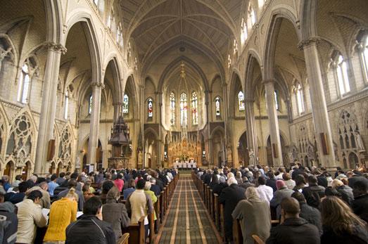 Catholic Men at Church