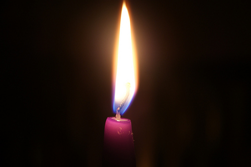 Because We're Catholic and It's Advent | liturgy guy One Advent Candle